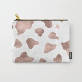 Rose gold cow print Carry-All Pouch