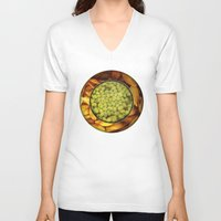 pasta V-neck T-shirts featuring Pasta + Beans by romano