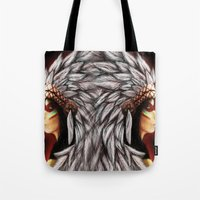 native american Tote Bags featuring Native by PanDuhVka
