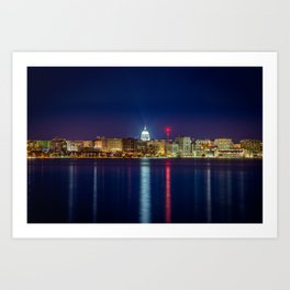 Madison at Night Art Print