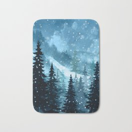 Winter Night Bath Mat