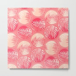 Pink Tropical Coins #society6 #decor #buyart Metal Print