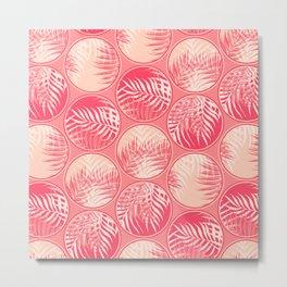 Pink Tropical Coins Metal Print