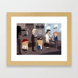 Beware the air pirates Framed Art Print