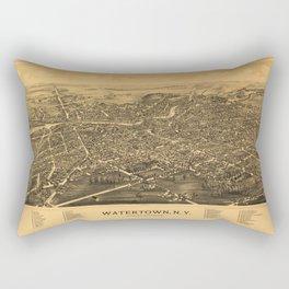 Aerial View of Watertown, Wisconsin (1885) Rectangular Pillow