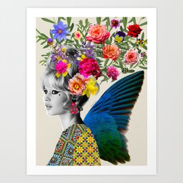 Brigitte flowers Art Print