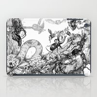fight iPad Cases featuring Fight by Emile Denis
