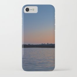 Lighthouse at Harbor Deep Sunset iPhone Case