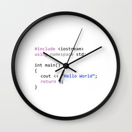Hello world - First program in Computer science Wall Clock