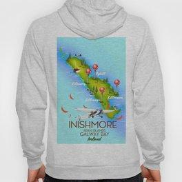 Inishmore Aran Islands Galway Bay Ireland travel poster Hoody