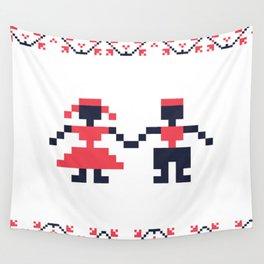 Romanian folk art Wall Tapestry