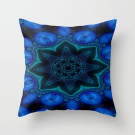 Battling At The Chasm Mandala 7 Throw Pillow