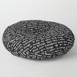 Sonnet 29 - Love Sonnet on black Floor Pillow