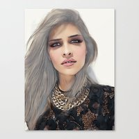 xoxo Canvas Prints featuring XOXO by Sara Eshak