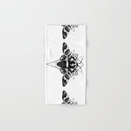 Geometric Moth Hand & Bath Towel
