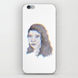 "SERIOUS - pencil illustration ""screen print"" iPhone Skin"