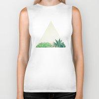 succulent Biker Tanks featuring Succulent Forest by Cassia Beck