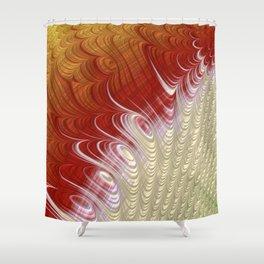 Falling Off - Fractal Art Design Shower Curtain