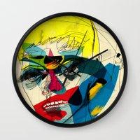 kandinsky Wall Clocks featuring 041112 by Alvaro Tapia Hidalgo