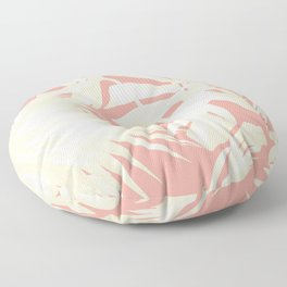 Tropical Coral Pink Palm Leaf Pattern Floor Pillow