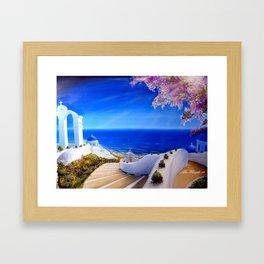 Greece, Greek Island  Framed Art Print