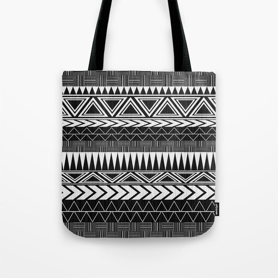 Tribal Monochrome. Tote Bag