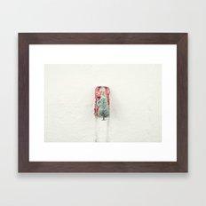 Christmas Eve in a hurry Framed Art Print