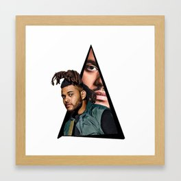 Youtriangle ∆ The Weeknd Framed Art Print