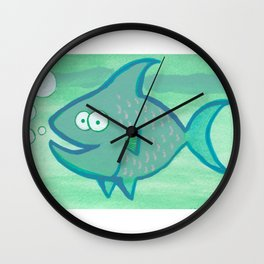 Happy Fish!!!! Wall Clock