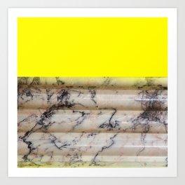 Greek Yellow Marble Art Print