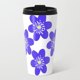 Flower Anemone Hepatica, small Travel Mug