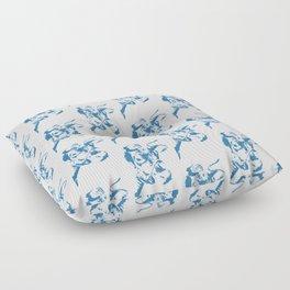 Follow the Herd All Over Blue #761 Floor Pillow