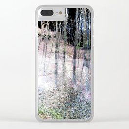 Foggy Woods Clear iPhone Case