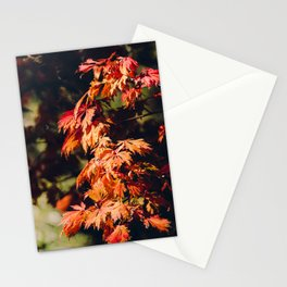 Moody Autumn Leaves 2 Stationery Cards