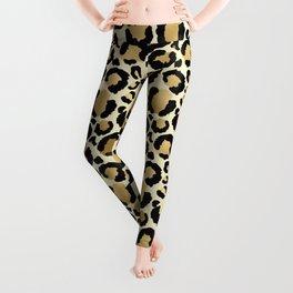 Gold Leopard Print Leggings