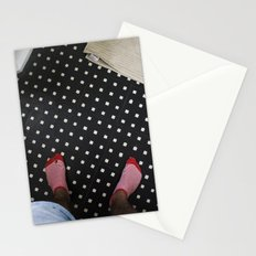 red stripes Stationery Cards