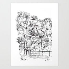 Marjan Hill in Split Art Print
