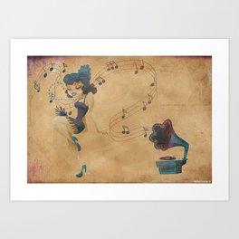 charleston dancer Art Print