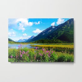 God's Country - Summer in Alaska Metal Print