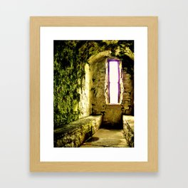 Castle Window Framed Art Print