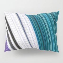 Purple Smooth Curved Aqua Contrast Colour Pillow Sham