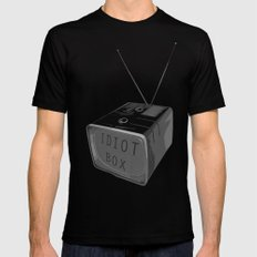 Idiot box MEDIUM Mens Fitted Tee Black