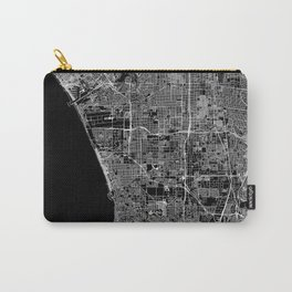 Los Angeles Black Map Carry-All Pouch