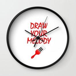 Melody brush Wall Clock