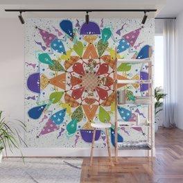 Rainbow Mandala Wall Mural