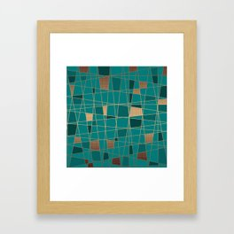 Abstract geometric pattern 11 Framed Art Print