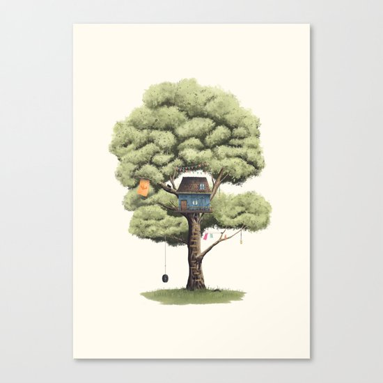 Tyre Swing Canvas Print