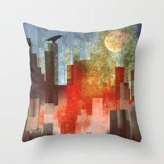 Urban Full Moon Throw Pillow