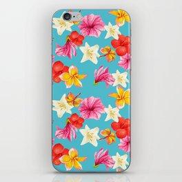 Florais col turq iPhone Skin