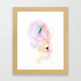 Marie in pink Framed Art Print